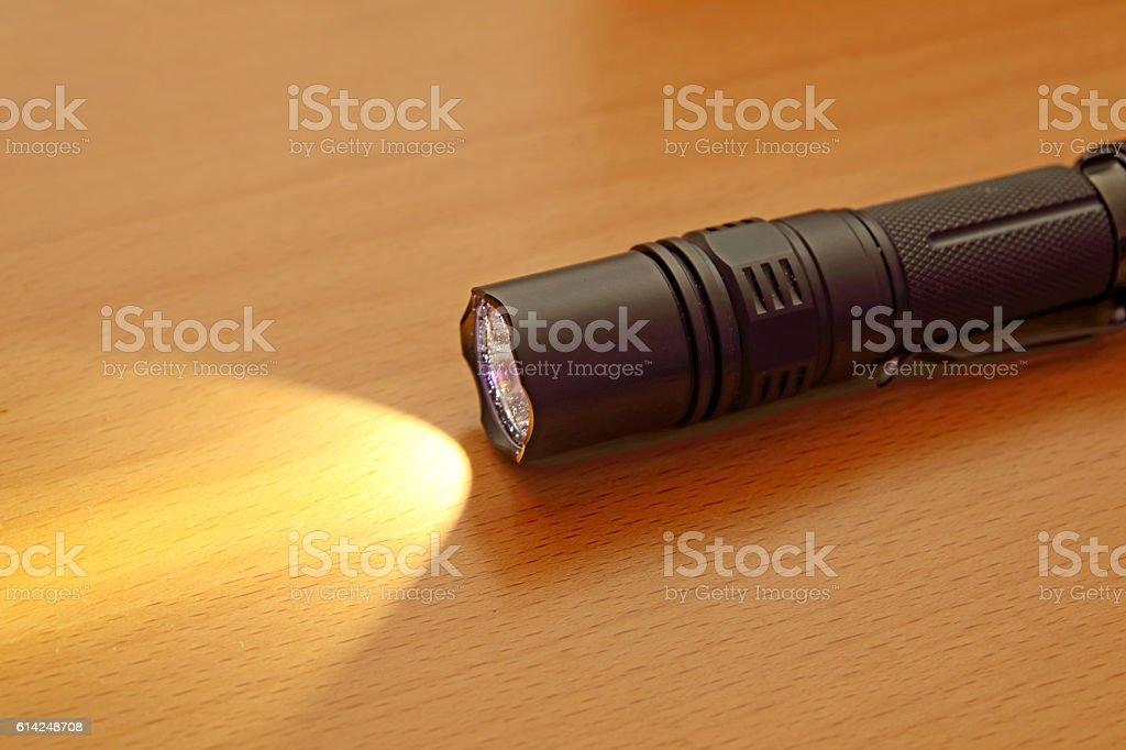 LED flashlight stock photo