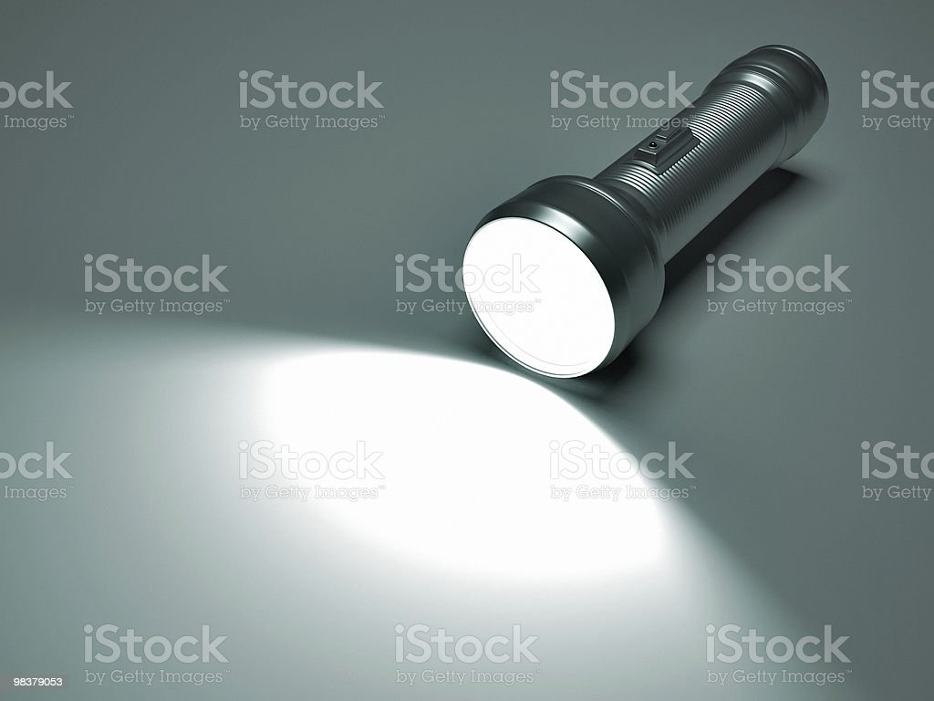 Flashlight spot stock photo