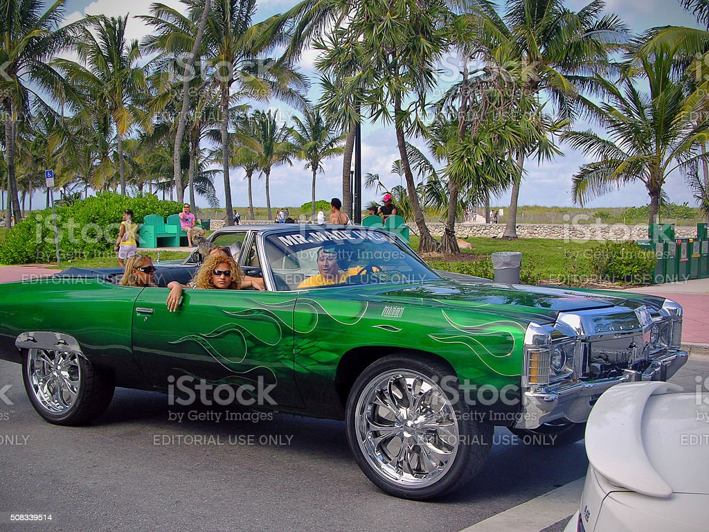 Flashy elaborate convertible car stock photo