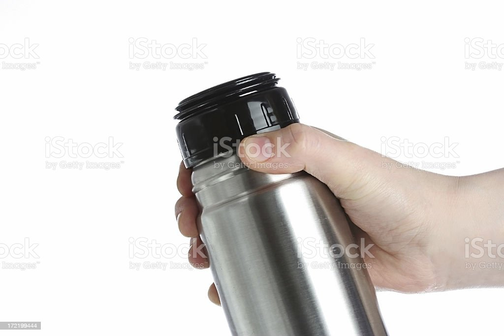 flask in hand royalty-free stock photo