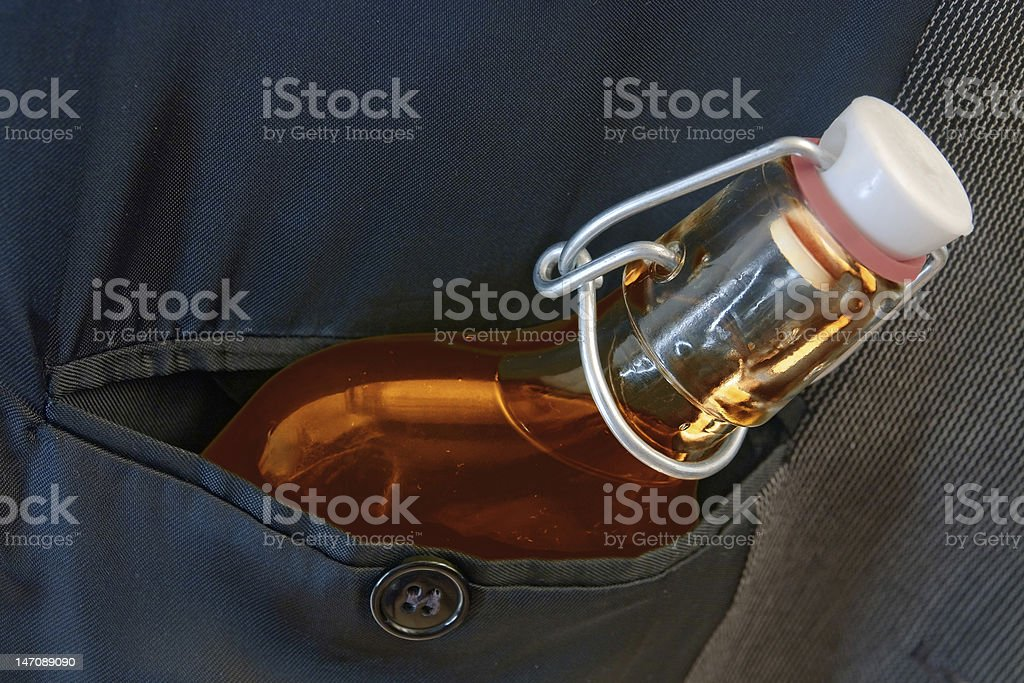 flask in pocket royalty-free stock photo
