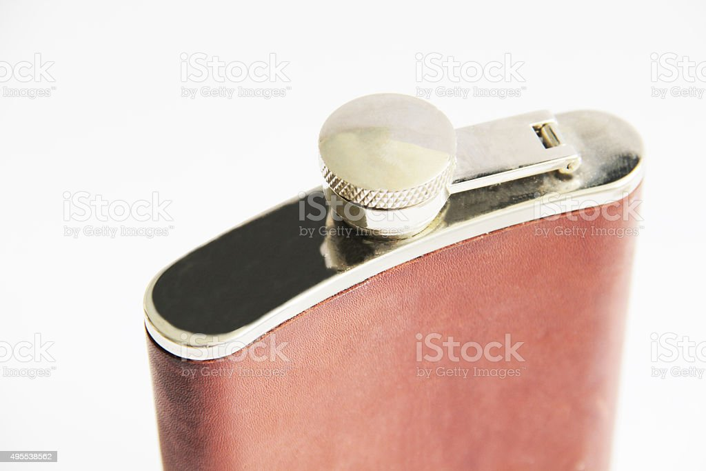 Flask isolated on white stock photo