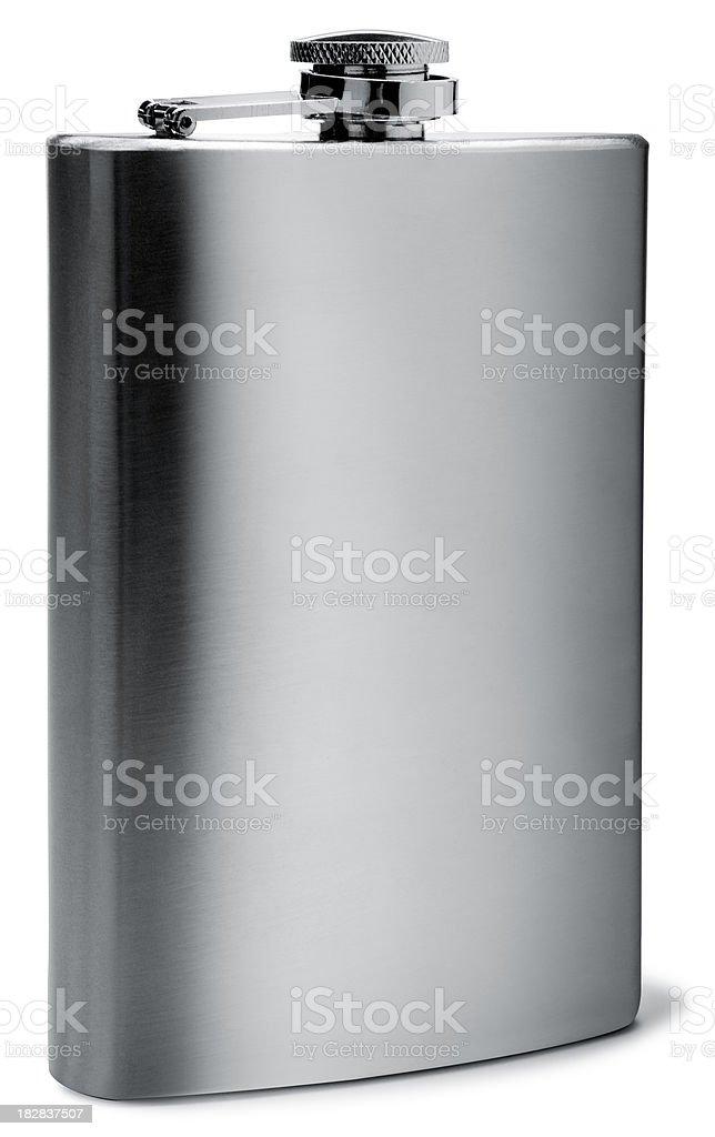 Flask on White stock photo