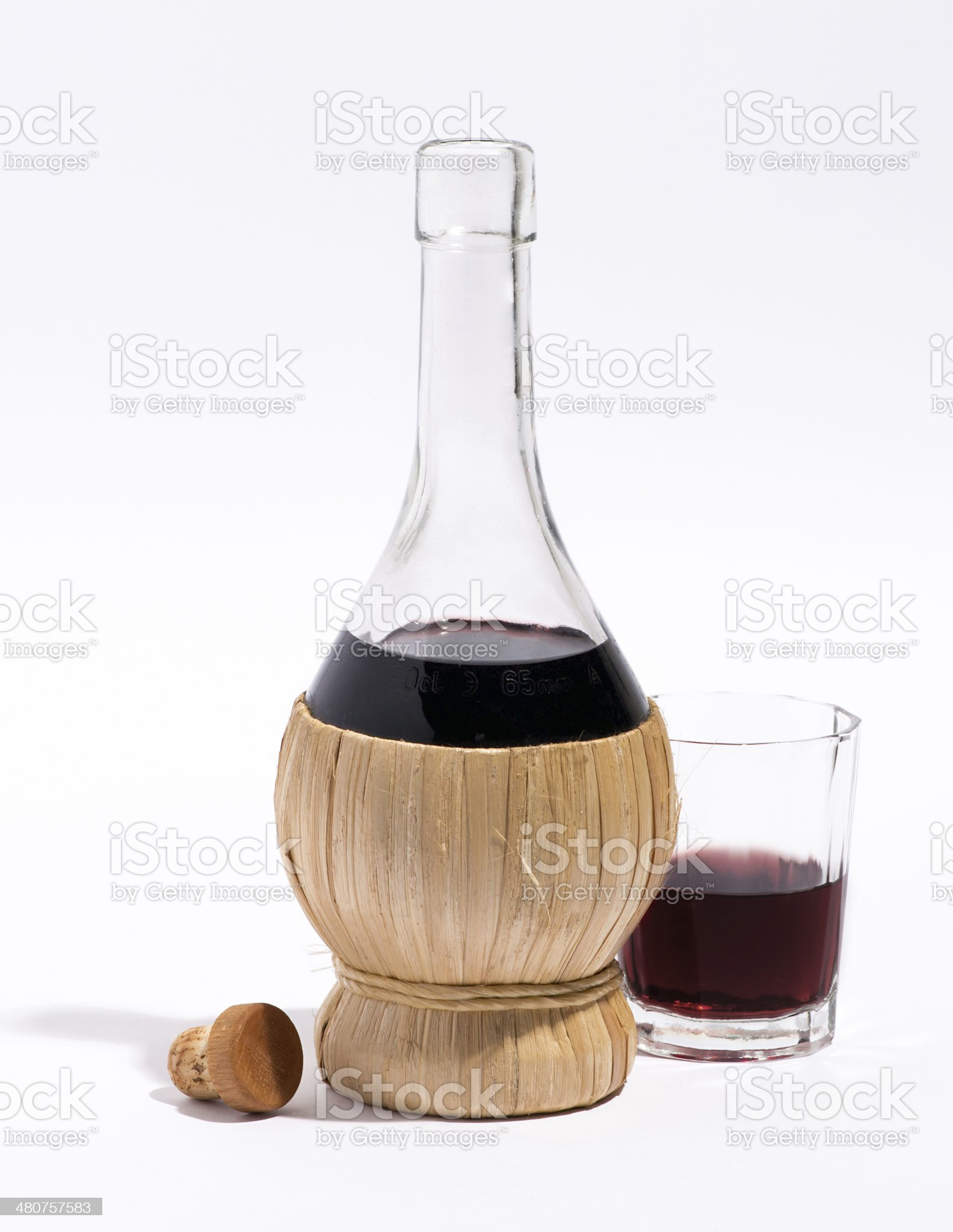 Flask or carafe of red wine royalty-free stock photo