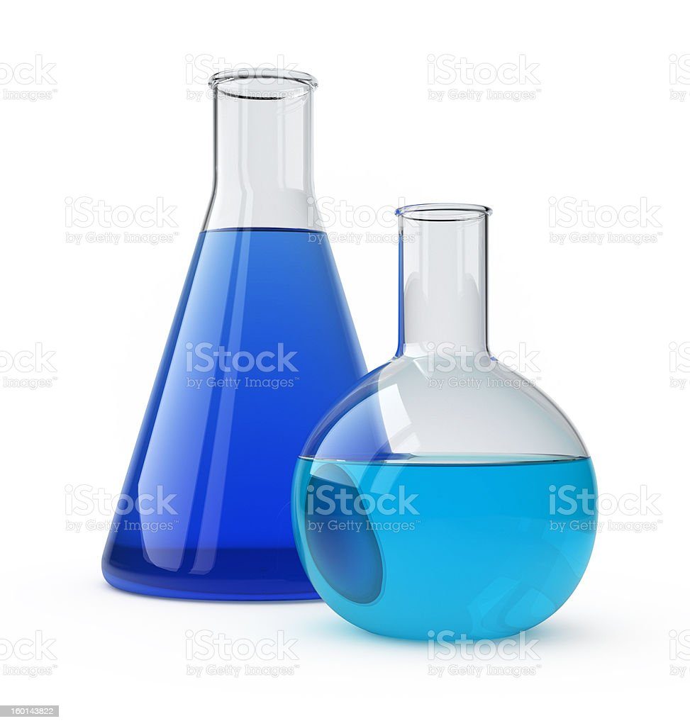 Flasks. stock photo