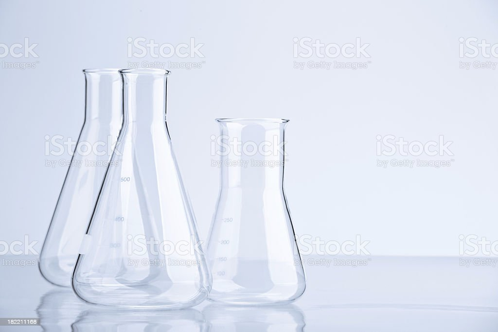 Flasks stock photo