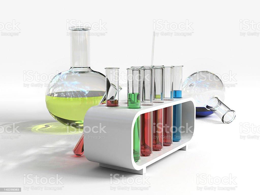 Flasks & test tube stock photo