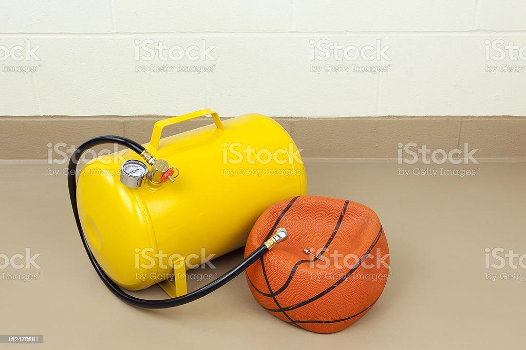Flat Basketball and Air Tank royalty-free stock photo