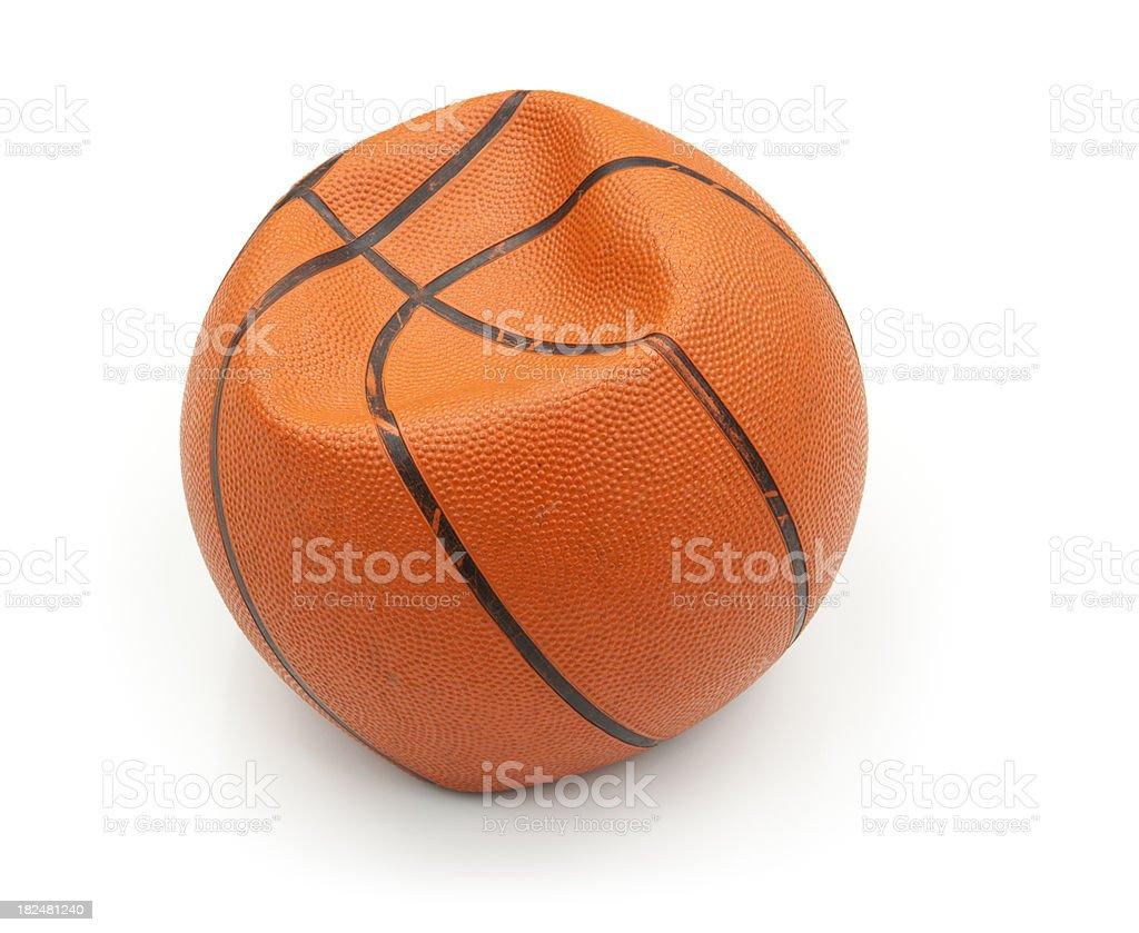 Flat Basketball Isolated royalty-free stock photo