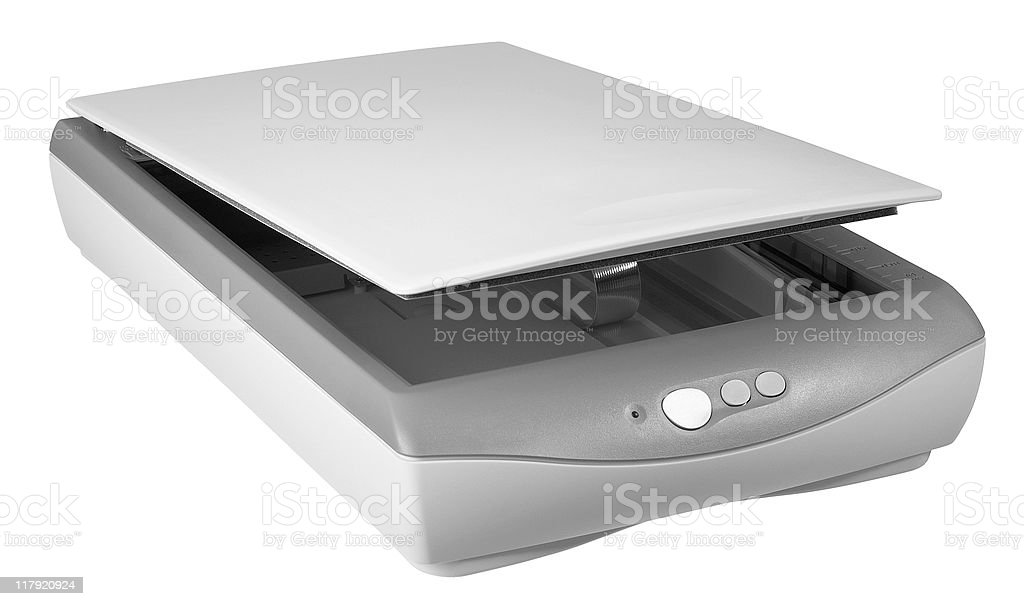 flat bed scanner royalty-free stock photo