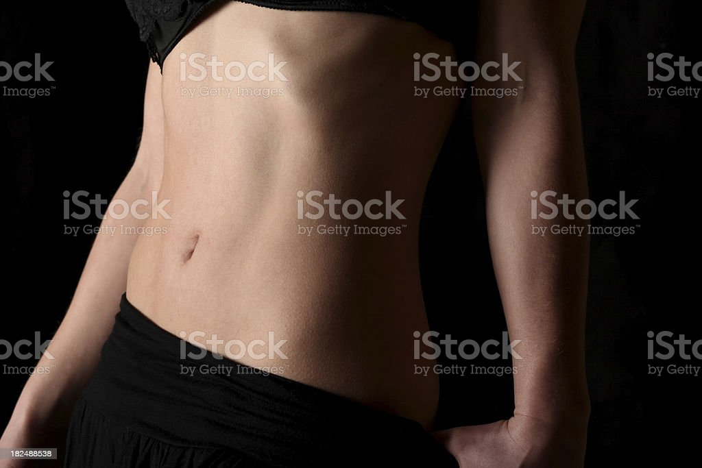 Flat belly royalty-free stock photo
