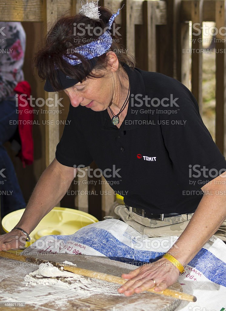 Flat bread stock photo