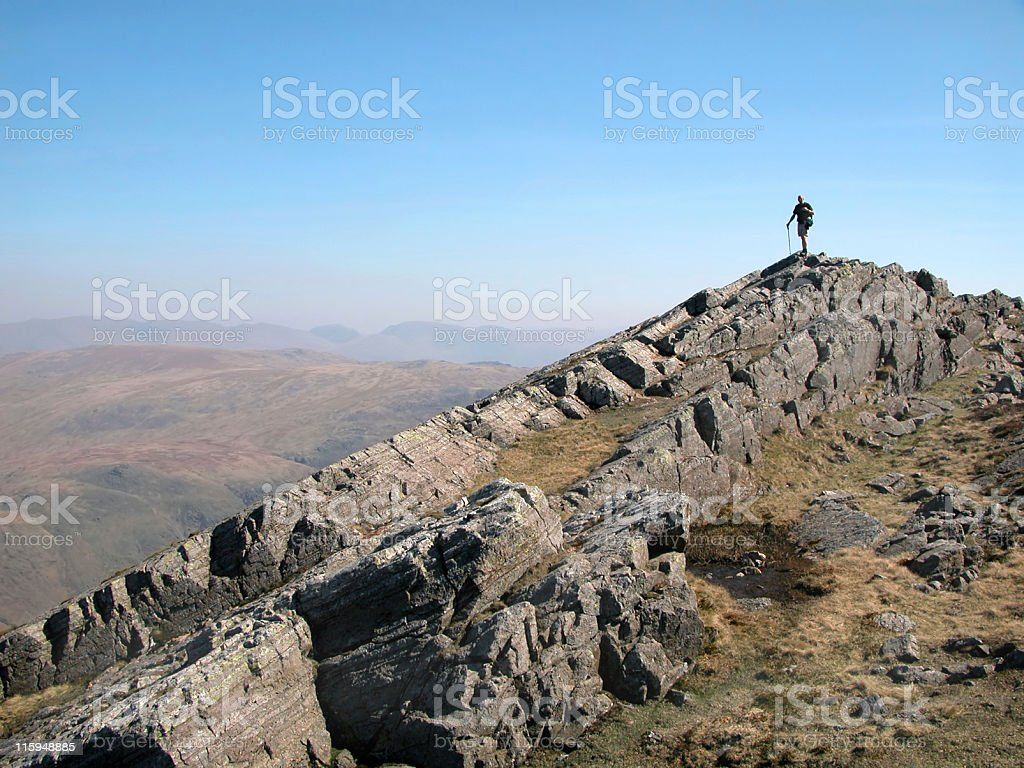 Flat Crags stock photo