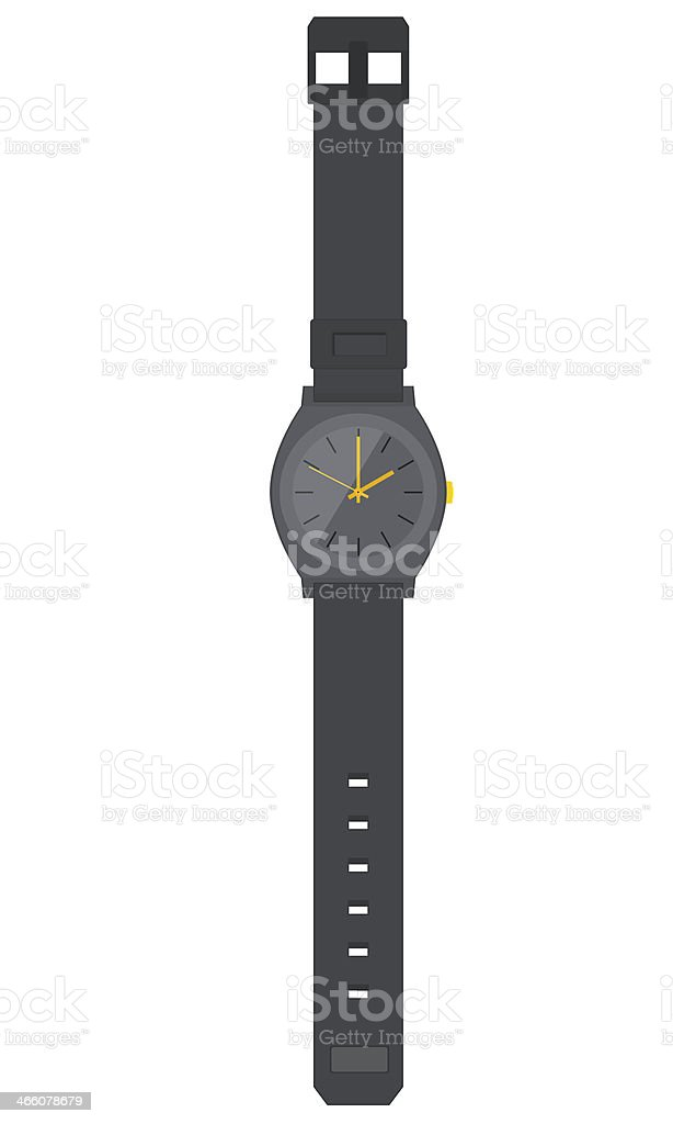 Flat Design Mens/Womens Watch stock photo