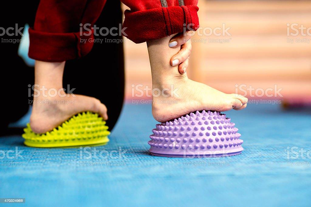 Flat Feet Correction stock photo