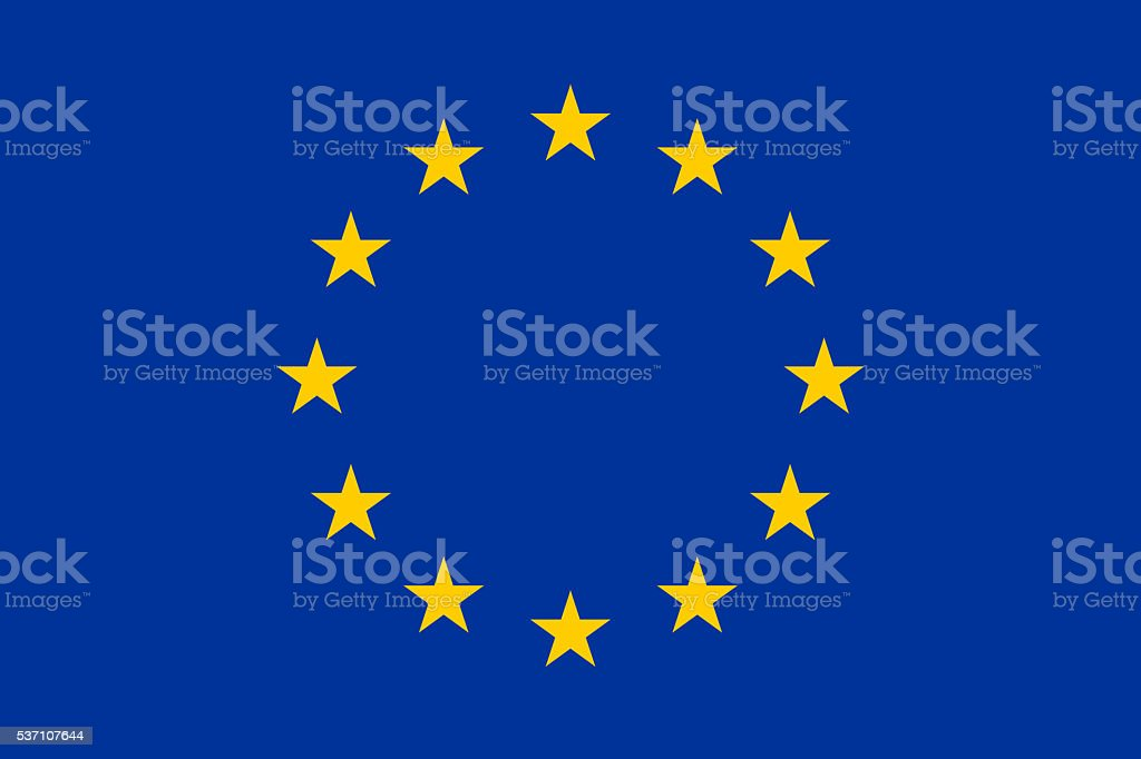 Flat flag - EU - European Union stock photo