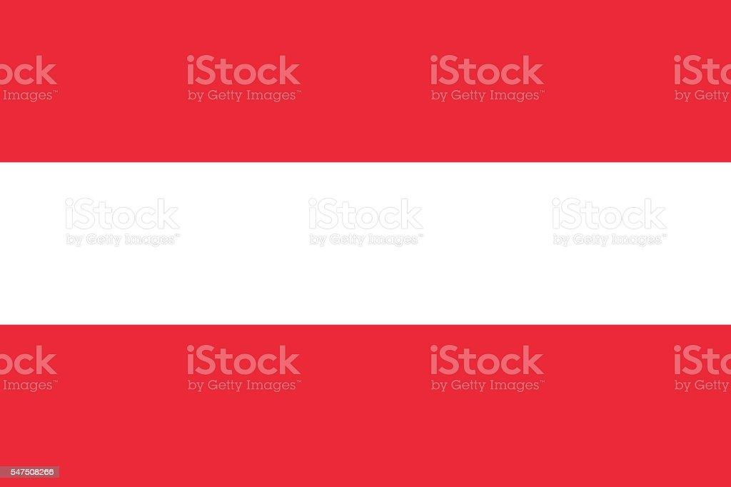 Flat Flag of Austria stock photo