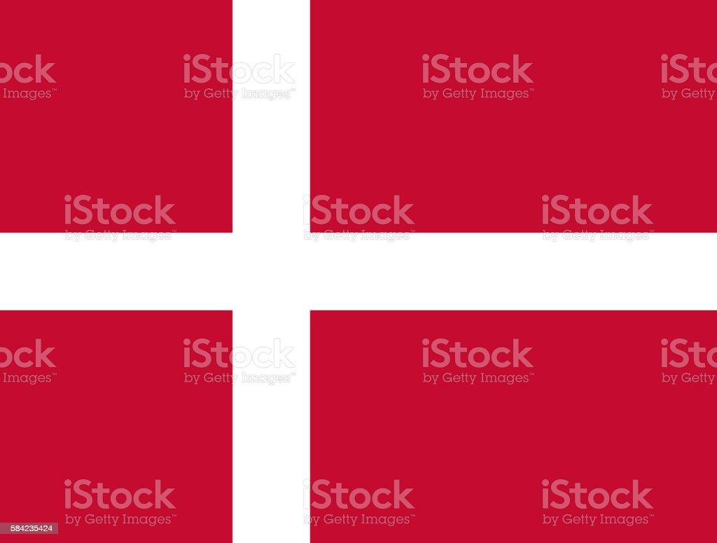 Flat Flag of Denmark stock photo