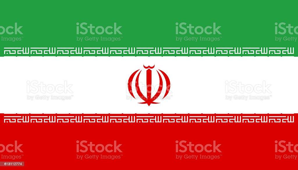 Flat Flag of Iran stock photo