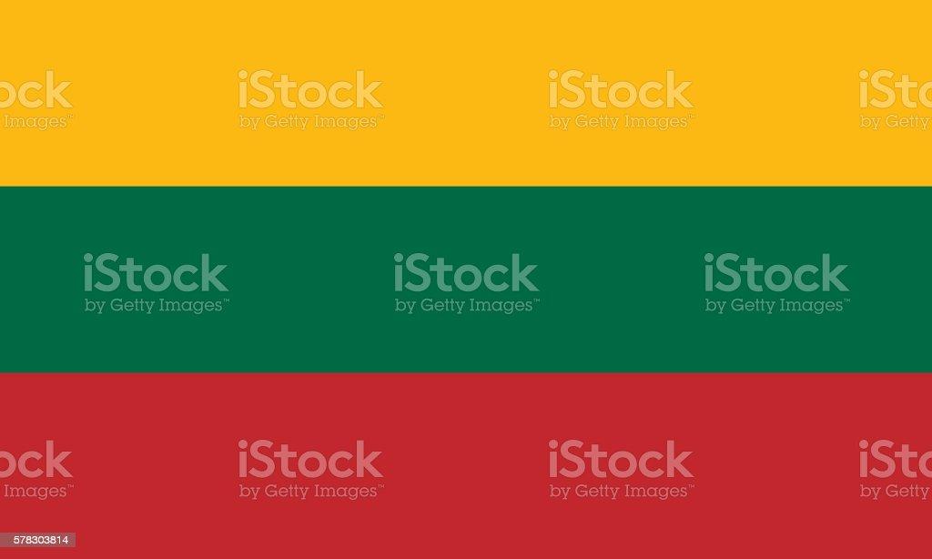 Flat Flag of Lithuania stock photo