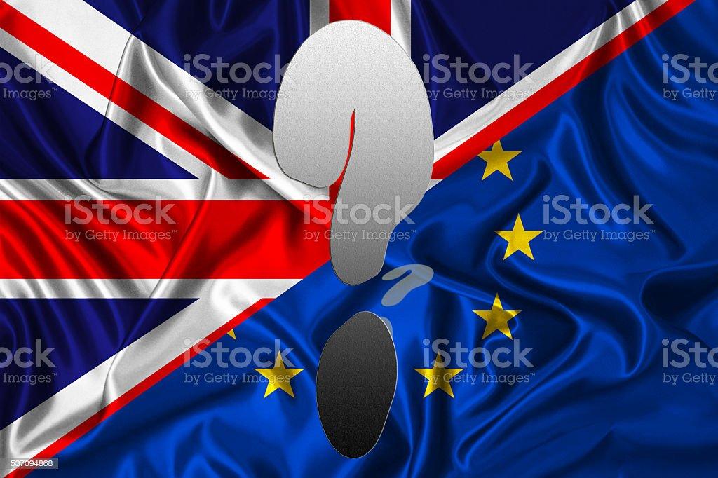 Flat flag - UK vs EU stock photo