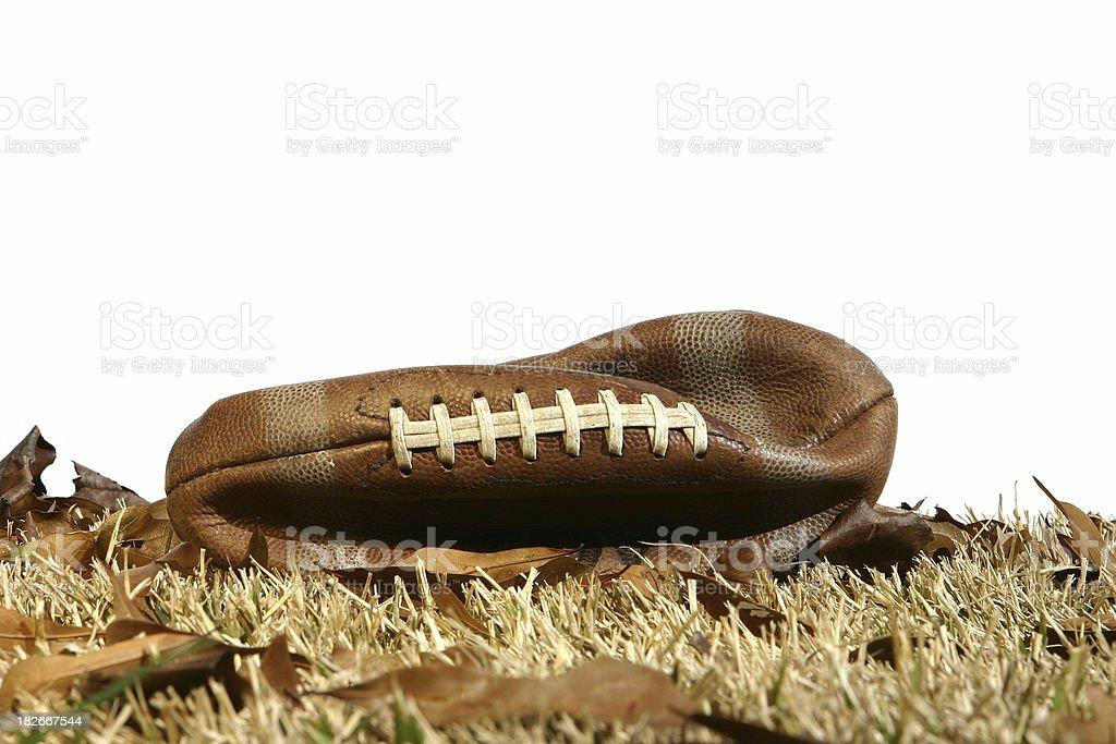 Flat Football - Season is Over stock photo