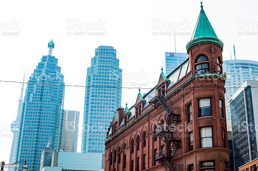 Flat Iron Building and Toronto Skyline. stock photo