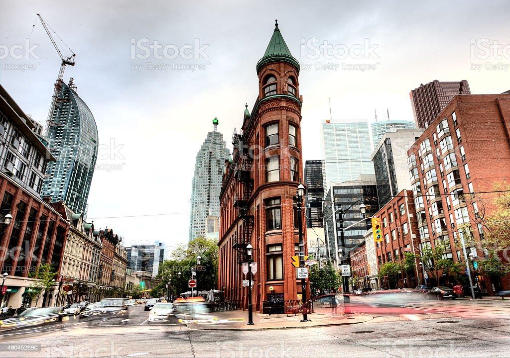 Flat Iron Building Toronto stock photo