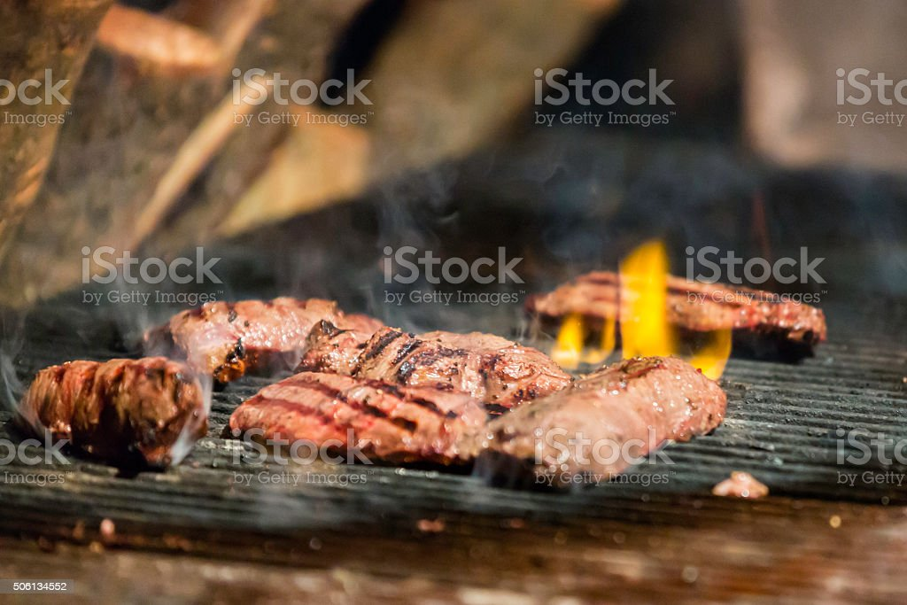 Flat iron steaks stock photo