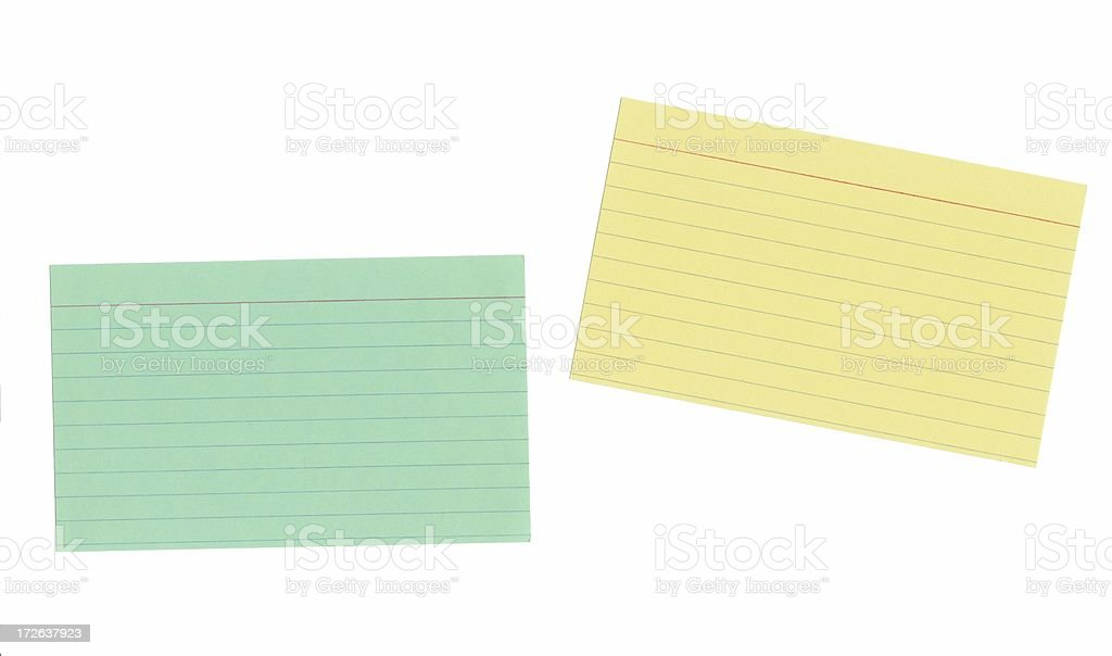 Flat Isolated Index Cards royalty-free stock photo