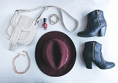 Flat Lay of Fashion Accessories