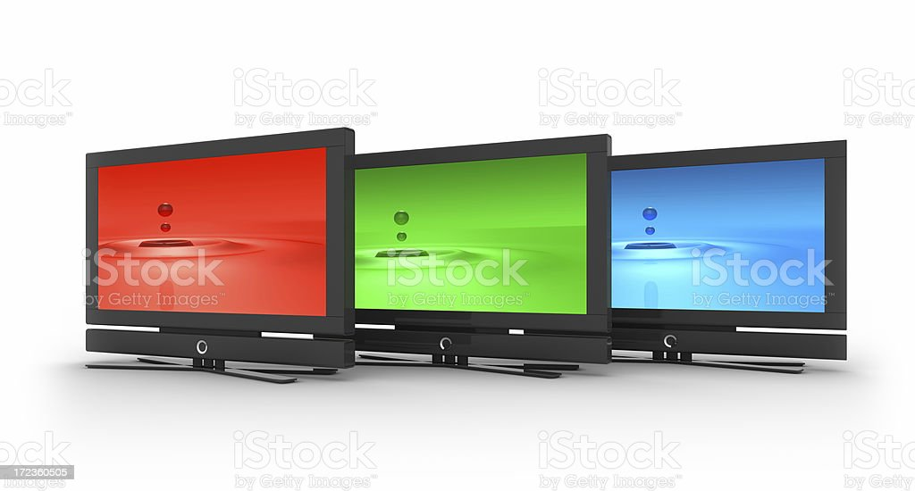 flat LCD Screens royalty-free stock photo