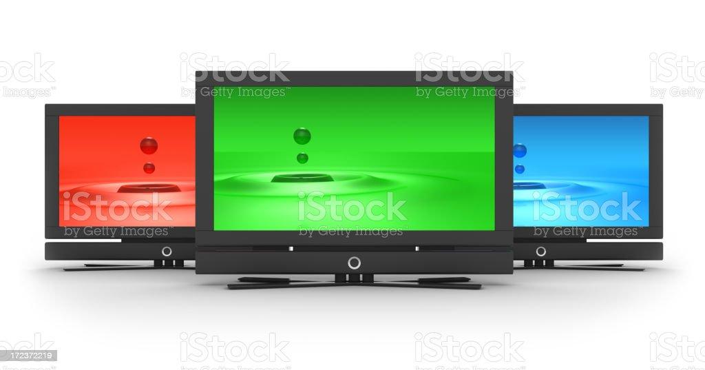 flat LCD Screens royalty-free stock photo