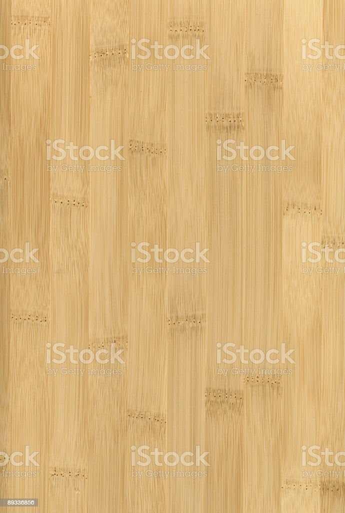 Flat light beige plank of processed bamboo stock photo