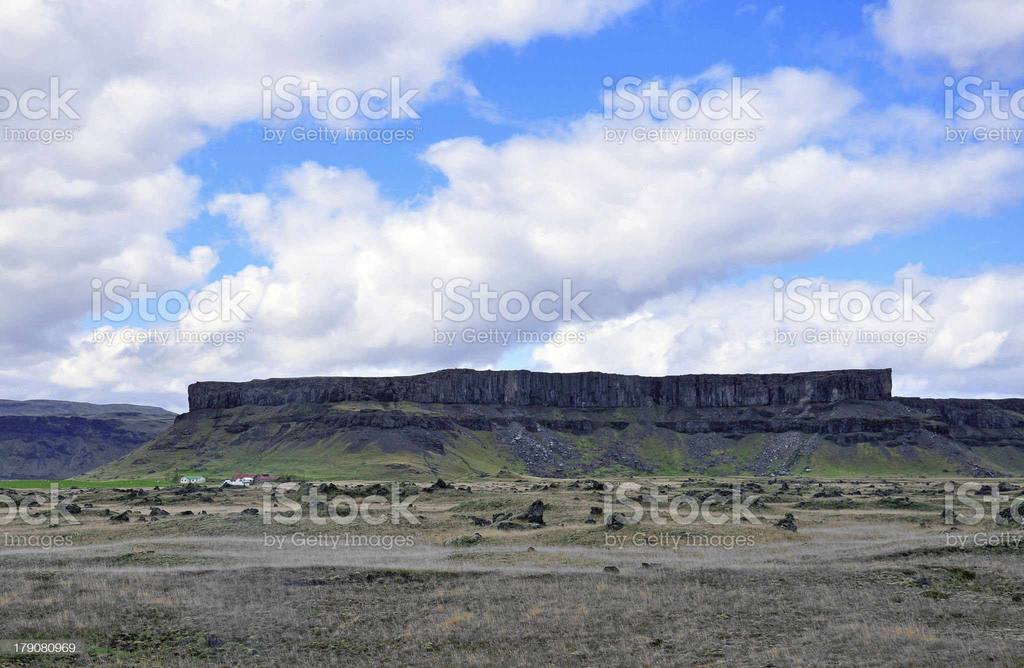 Flat mountain in Iceland royalty-free stock photo
