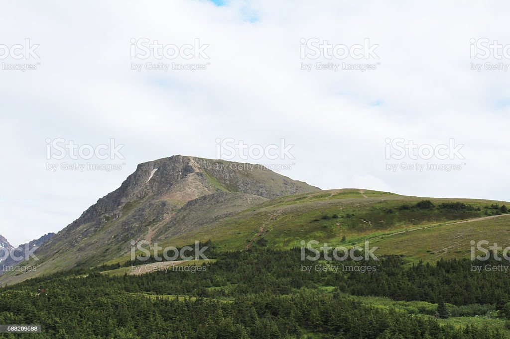 Flat Mountain Top stock photo