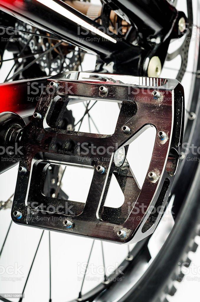 Flat Mountainbike Pedal with Pins stock photo