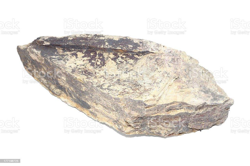 flat natural stone isolated on white background royalty-free stock photo