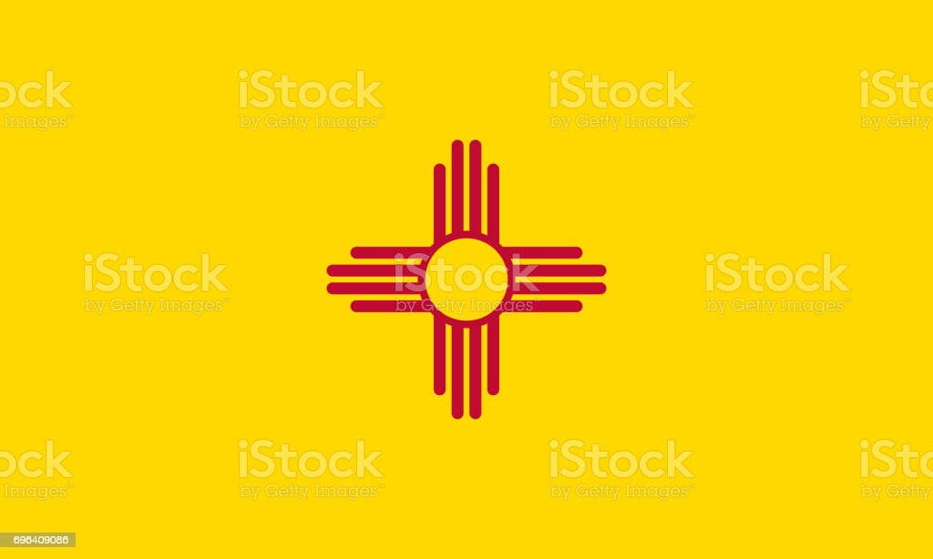 flat new mexico state flag - usa stock photo
