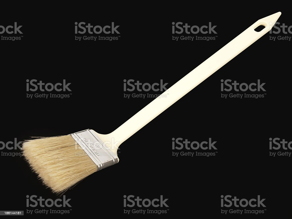 Flat paint-brush royalty-free stock photo
