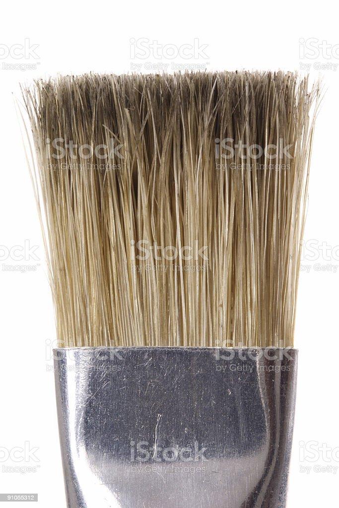 Flat paintbrush royalty-free stock photo