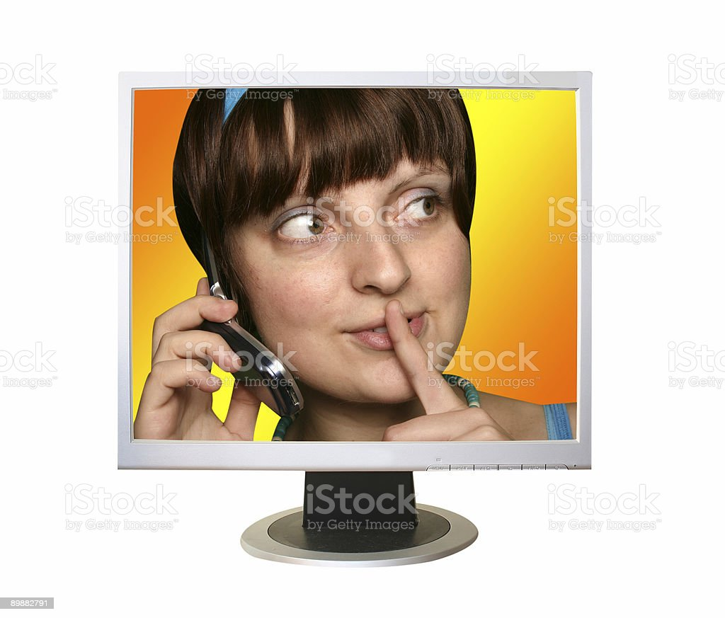 flat panel lcd computer monitor royalty-free stock photo