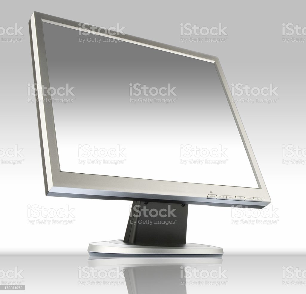 Flat panel monitor royalty-free stock photo