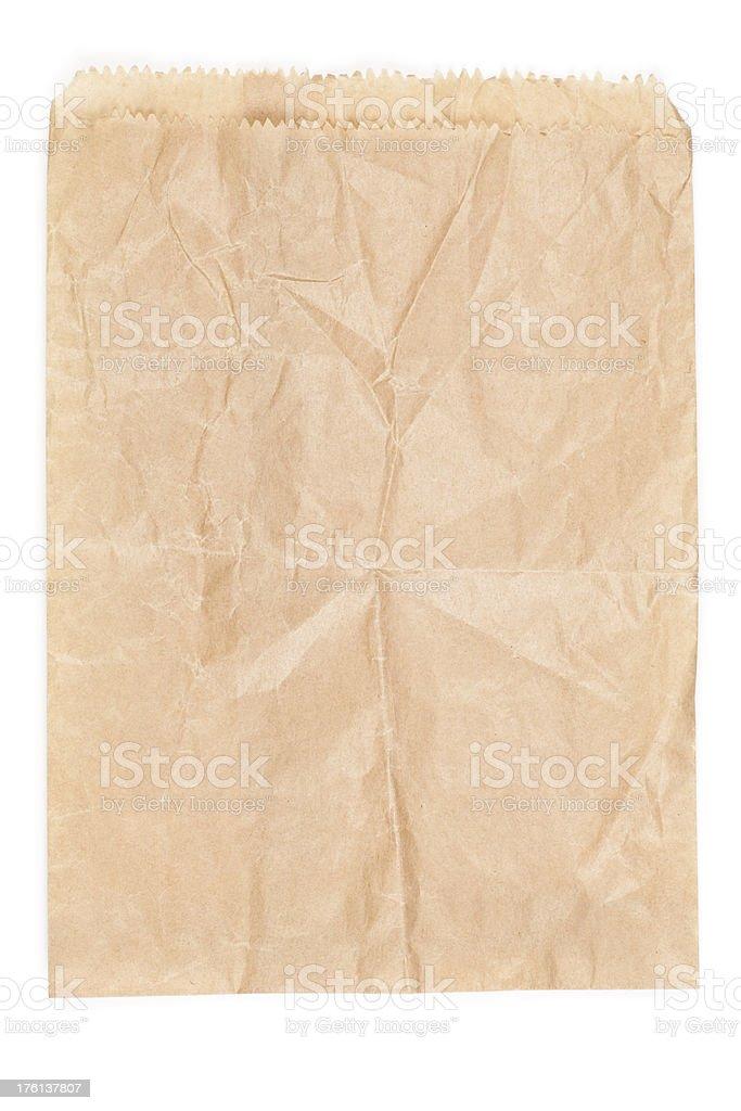 Flat paper bag royalty-free stock photo