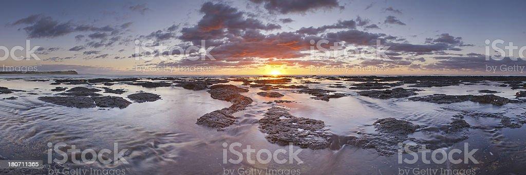 Flat Rock Panorama stock photo