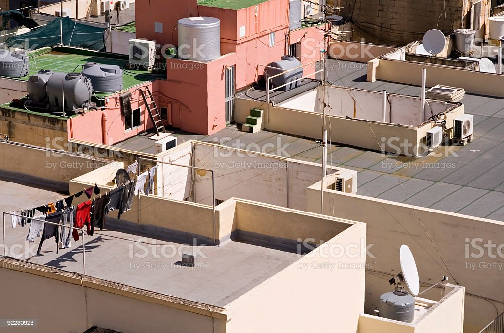 Flat rooftops royalty-free stock photo