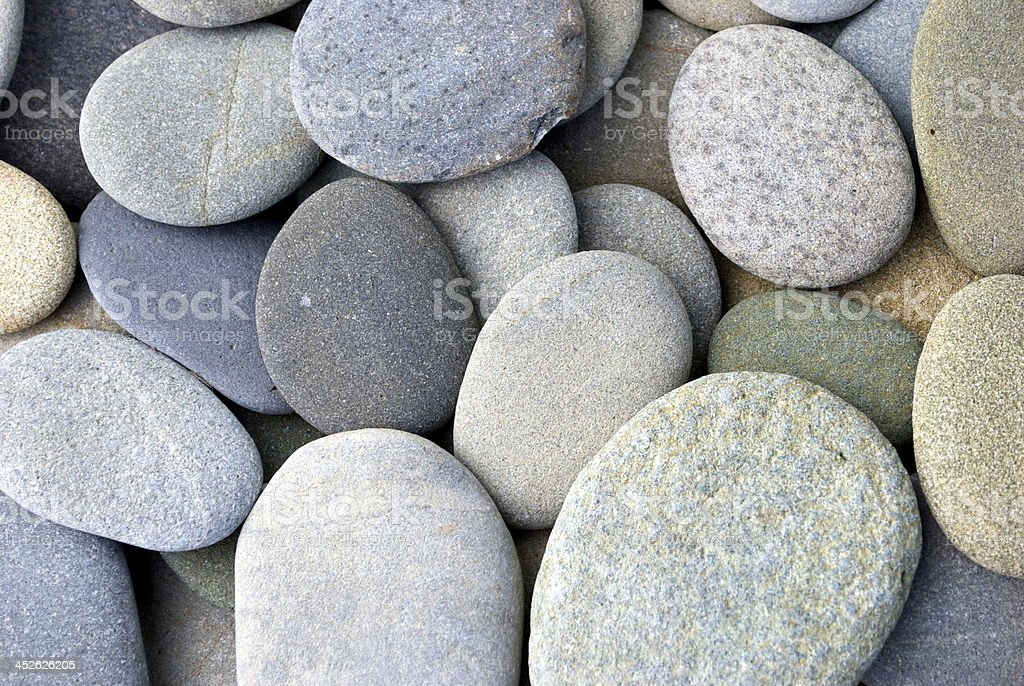 Flat Round Pebbles stock photo