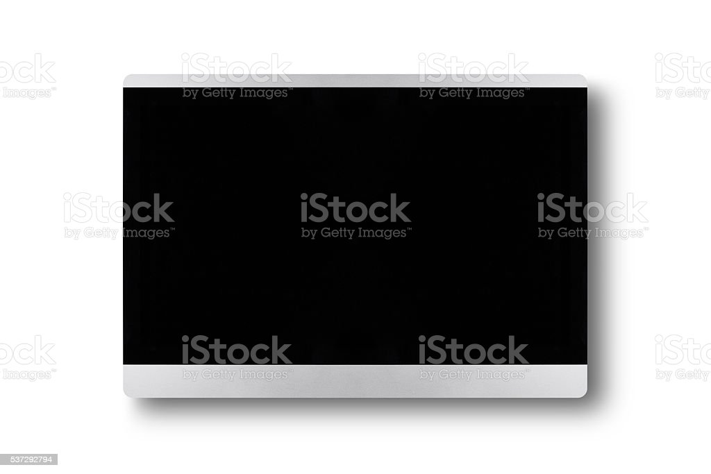 TV flat screen lcd on a wall, plasma realistic tv stock photo