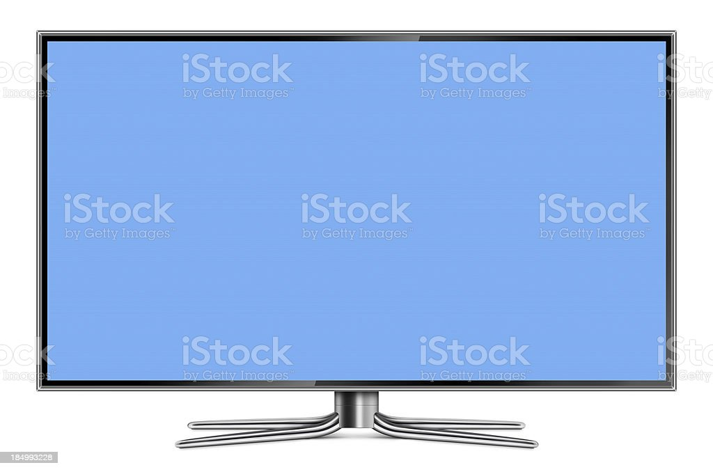 Flat Screen LCD Television stock photo