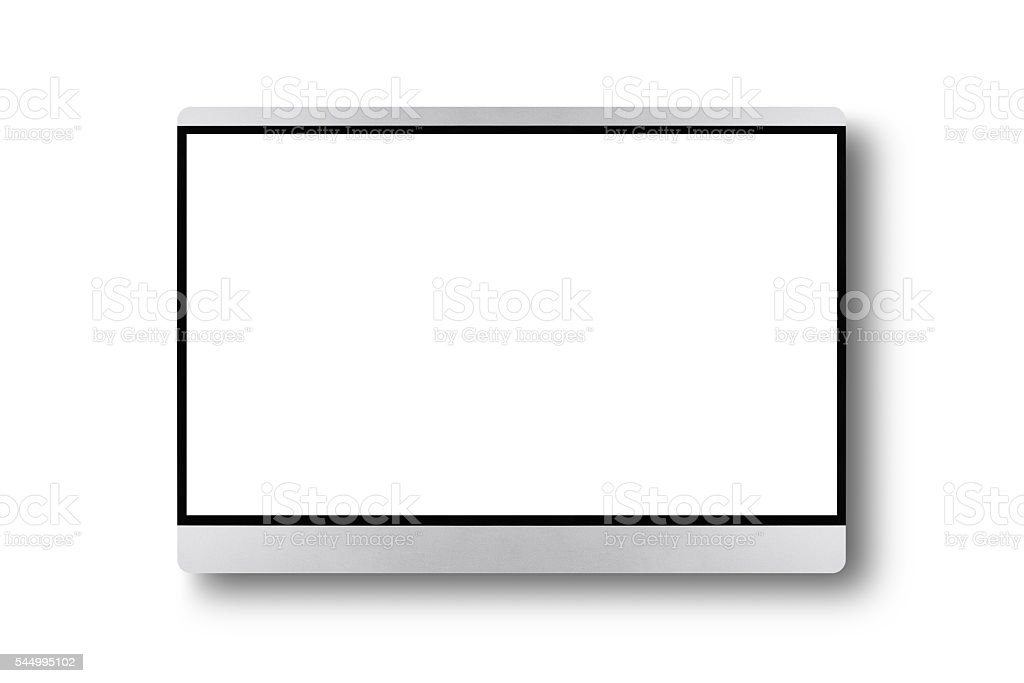 TV flat screen on a wall stock photo